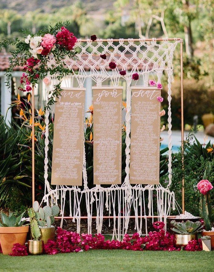 Beautiful seating chart displays | boho glam wedding #bohowedding #seatingchart #weddingideas