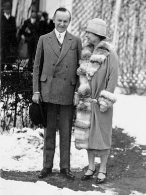 President Coolidge and Helen Keller
