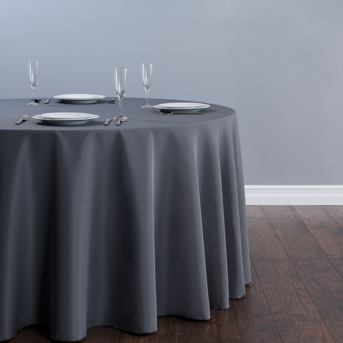 Table Cloth For Round Table 120 In Round Polyester Tablecloth Charcoal Restaurant We And