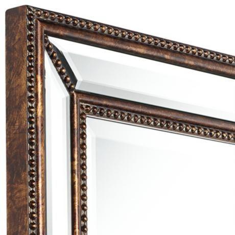 """Uttermost Palais Bronze 30"""" x 40"""" Beaded Wall Mirror - # ..."""