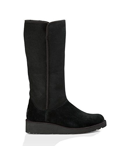 8f183d50a2e UGG Australia Women's Kara Wedge Black Sheepskin Classic Slim Boot 9 ...