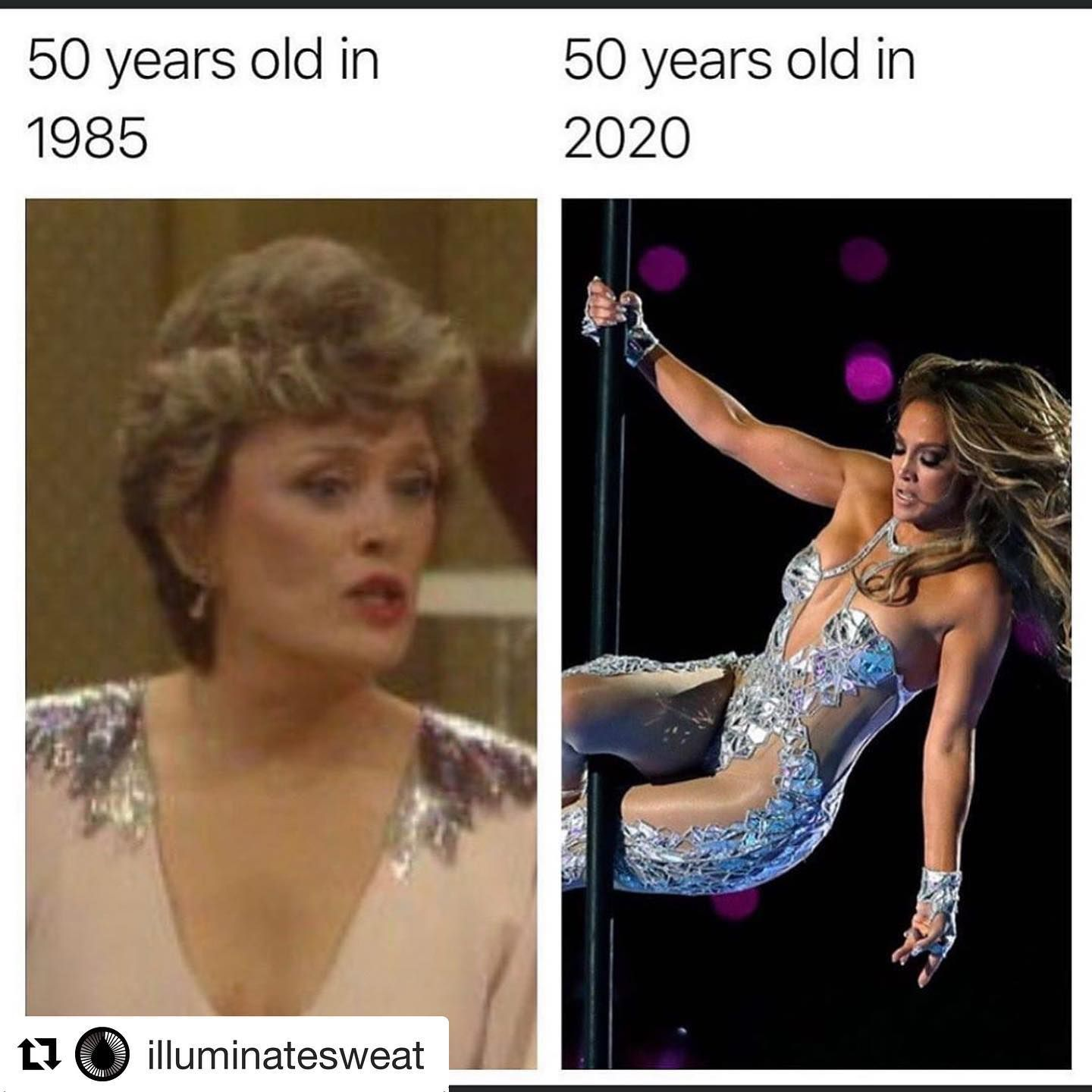 Mean tweet about Jlo being better than Blanche Devereaux just because she looks younger due to new anti-aging techniques