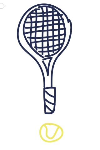 Love Tennis Tennis Tennis Racket My Doodle