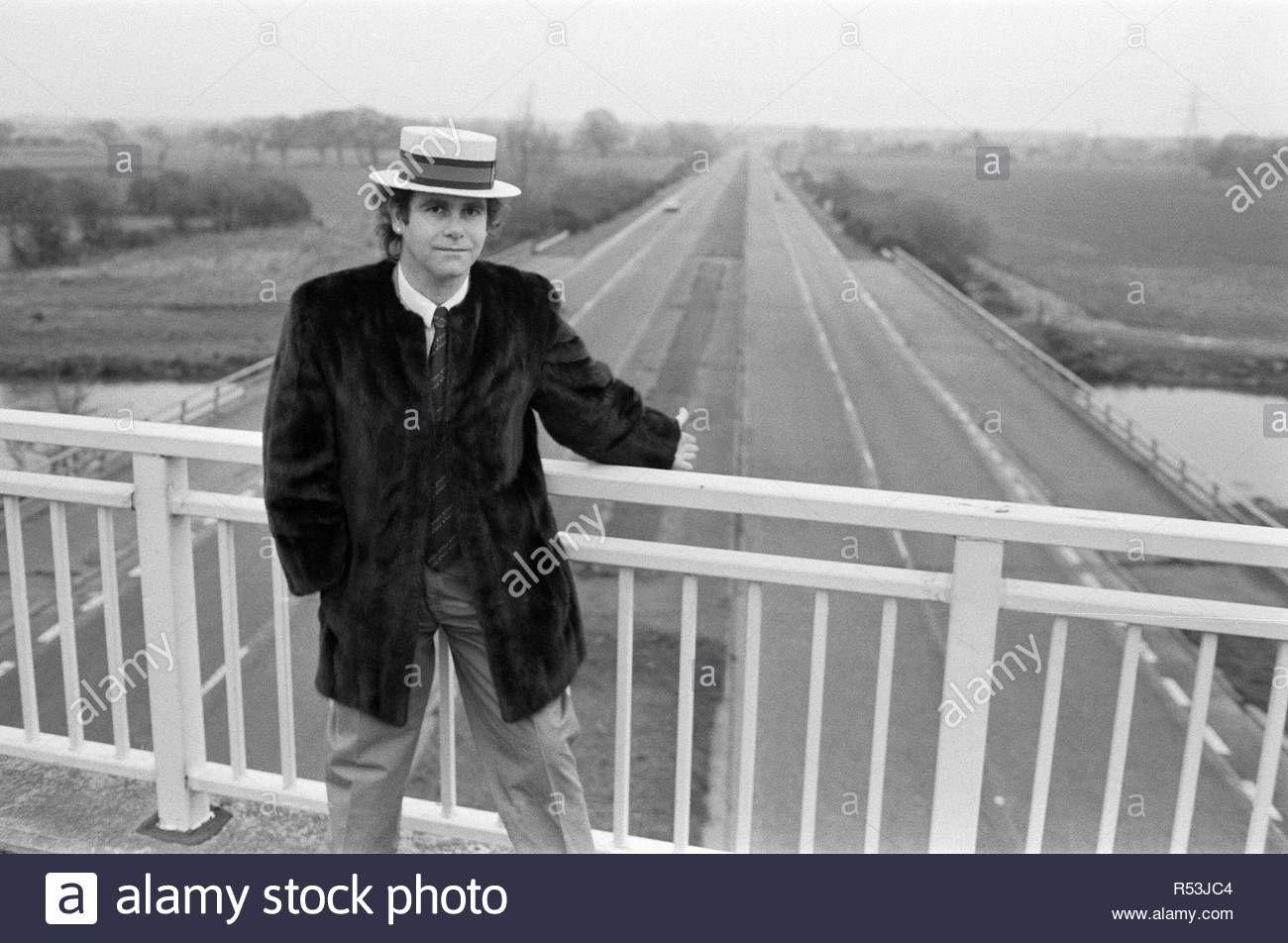 December 5th 1982 Elton John Pictured Standing On A Bridge Over The Motorway Elton John Picture Stand John