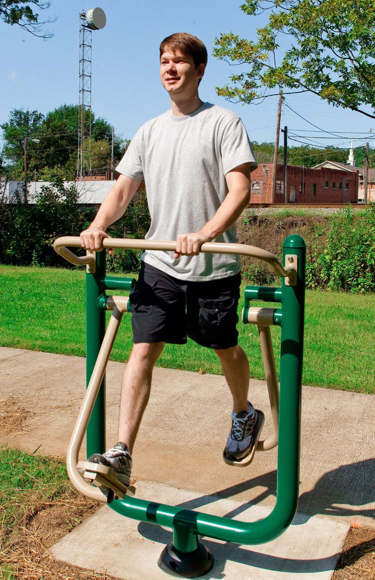 Outdoor Cardio Glider for Adult Fitness Trails by BYO