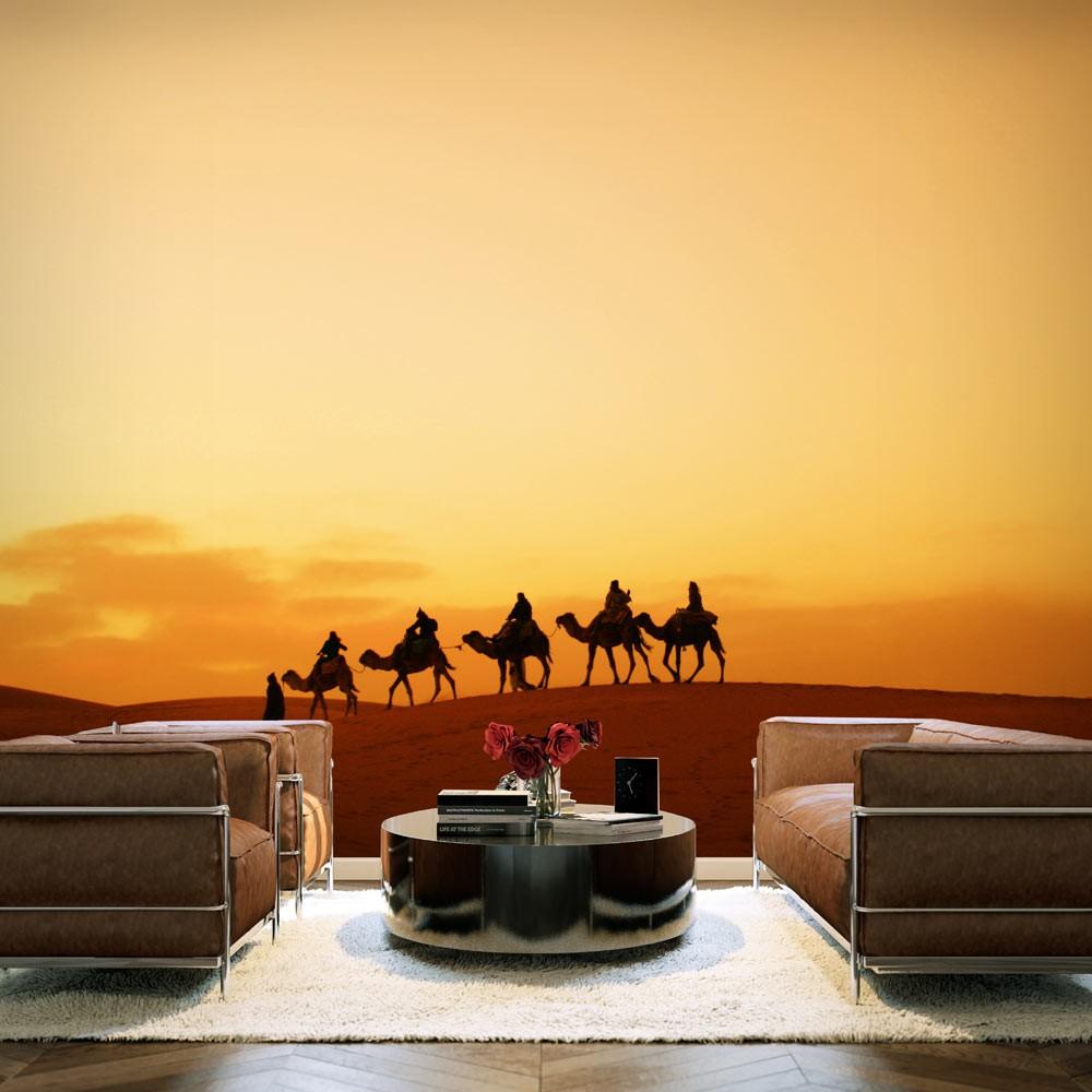 """Wallpaper Caravan on Sahara desert"" 3d wallpaper mural"