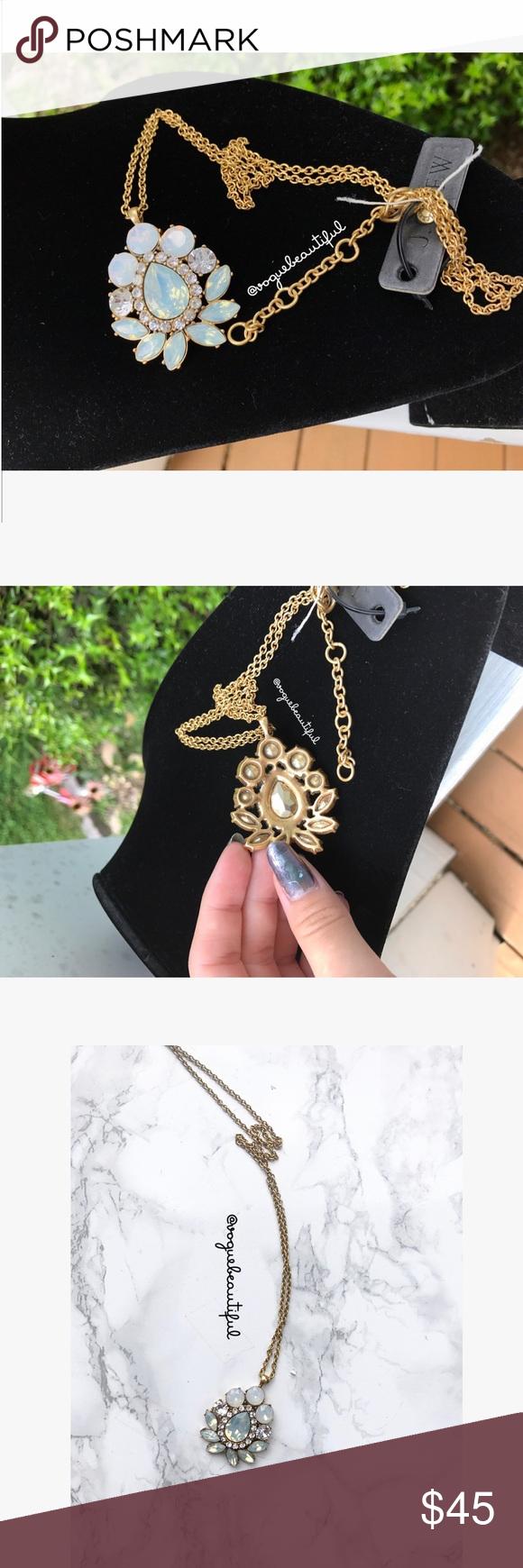 Nwt jcrew long pendant necklace nwt length measurement pendants