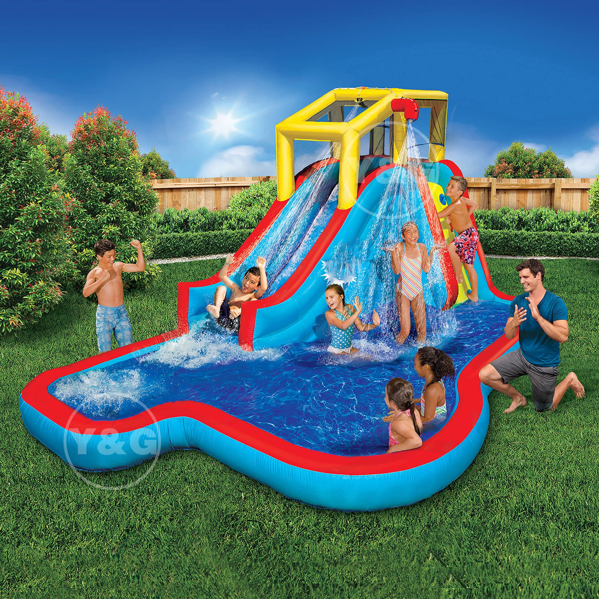 The most popular children's inflatable water slides combo