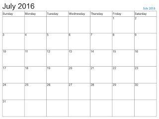 Free Printable Calendar Free Printable Calendar July  Free