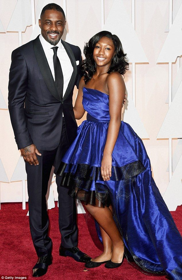 Idris Elba brought his 14-year-old daughter Isan as his date to the Oscars  on Sunday February 2, 2015 in Los Angeles