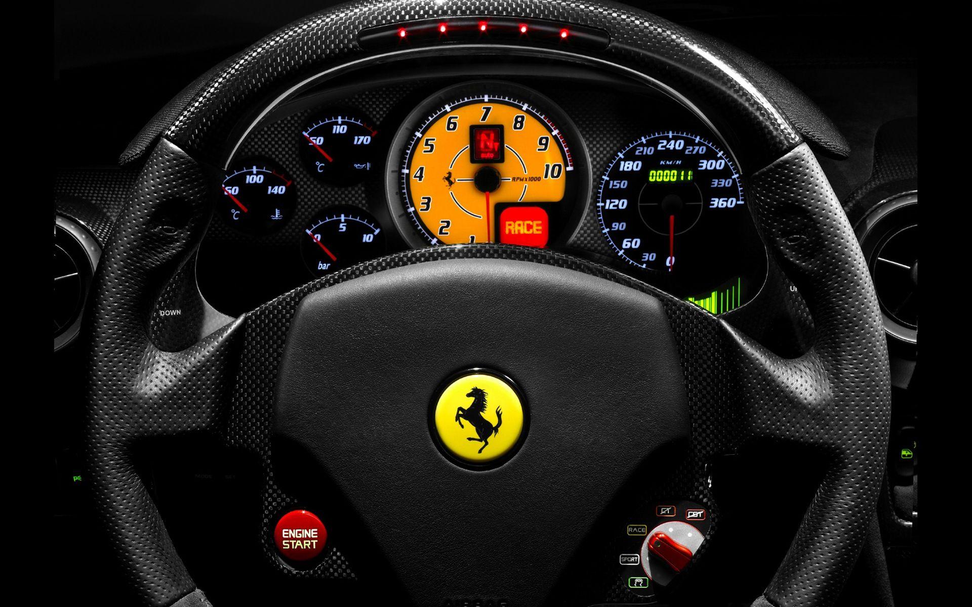 Ferrari F Scuderia Steering Wheel And Dashboard Ferrari Car Ferrari F430 Ferrari