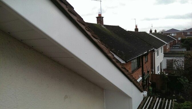 Facia Soffit And Pointing Up Of Roof Tiles House Exterior Roof Tiles Exterior