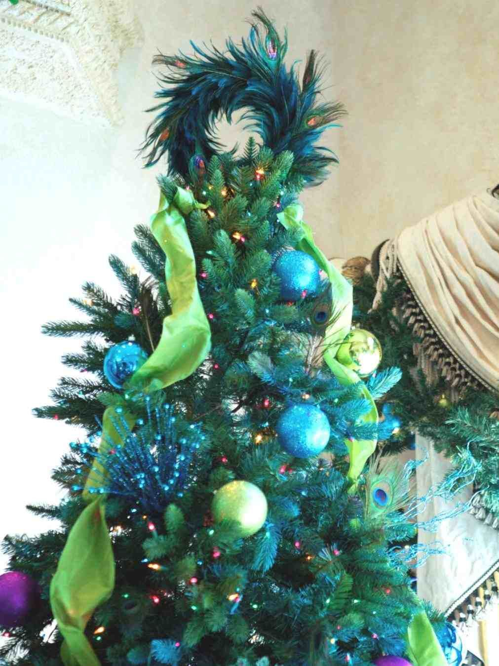 new post gothic christmas tree topper peacock - Peacock Christmas Tree Topper