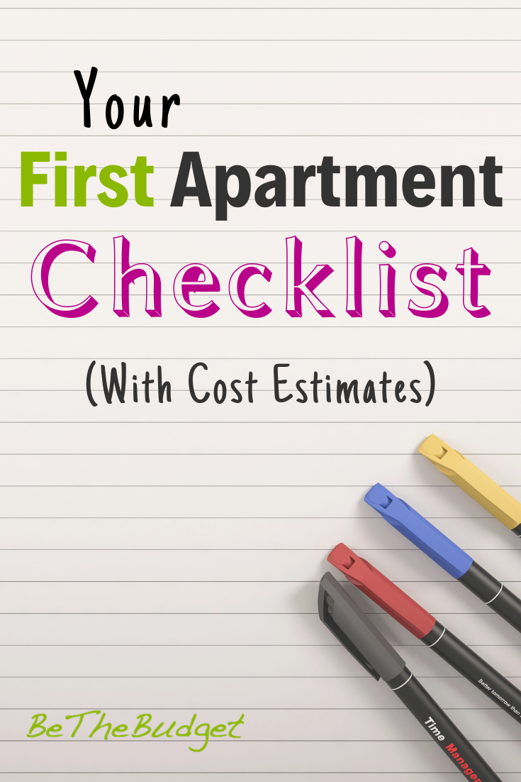 First Apartment Checklist (With Cost Estimates And Apartment Living Tips For Beginners)