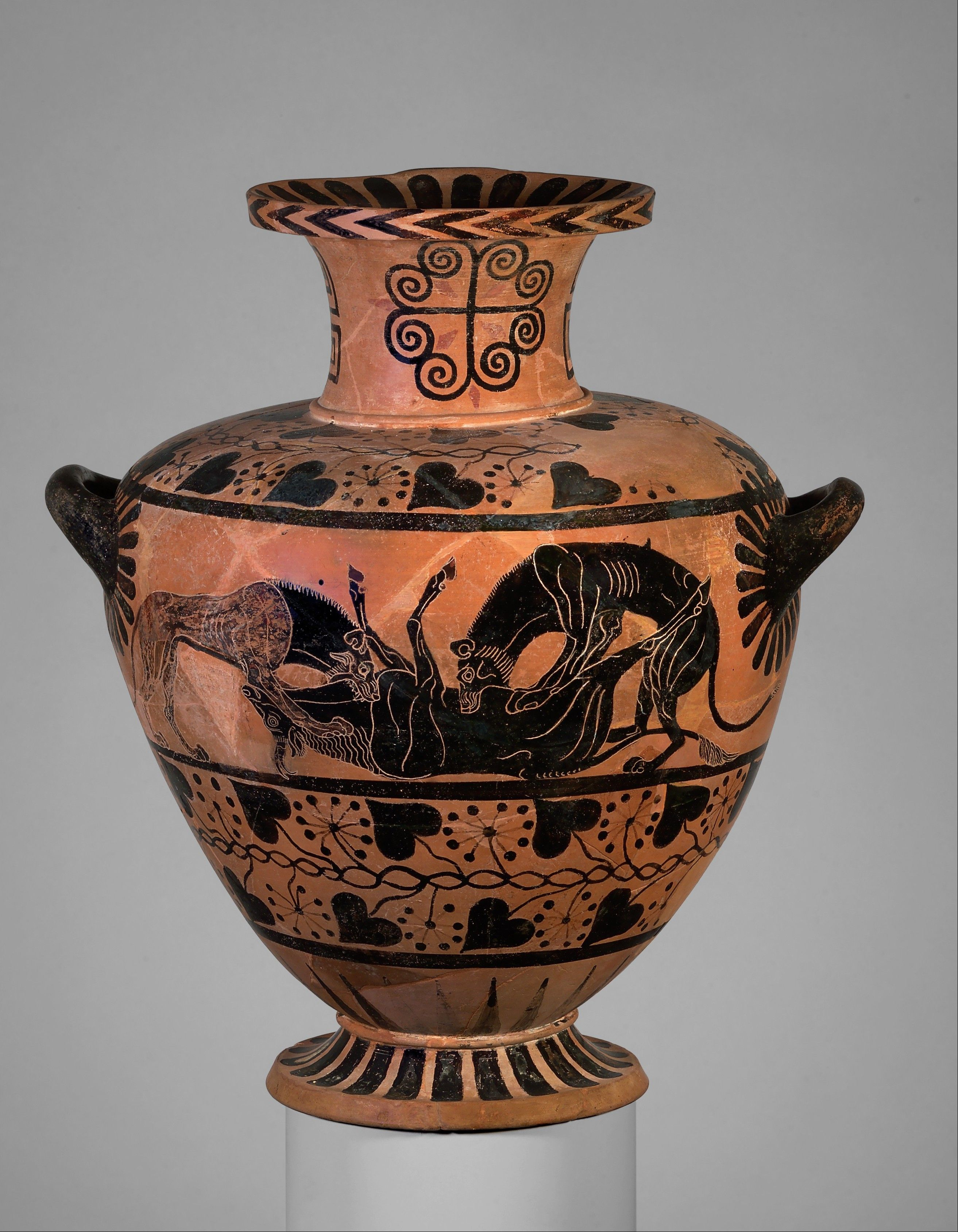 Terracotta Hydria Water Jar Attributed To The Eagle