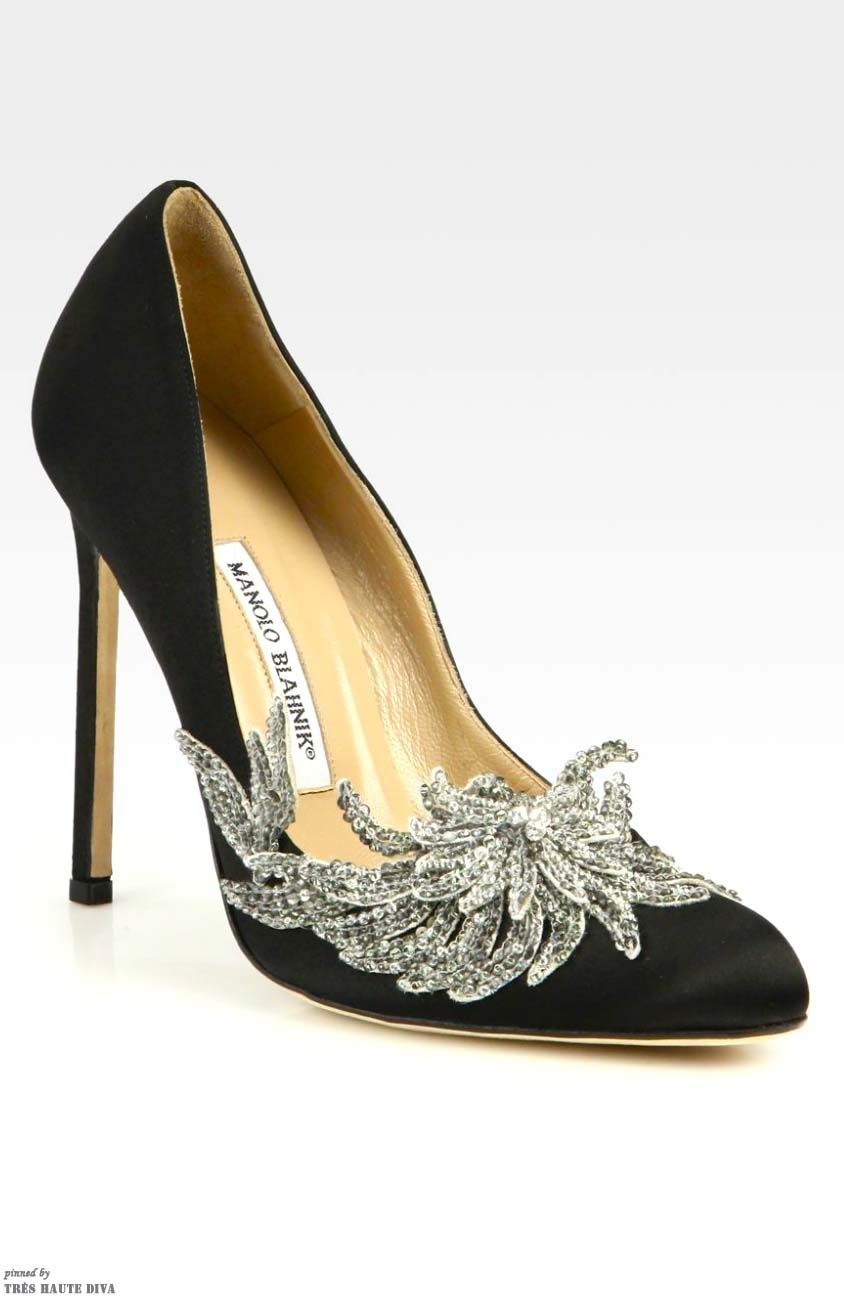1f90ddf6cb Manolo Blahnik Swan Embellished Satin Pumps (Accessories Show ...
