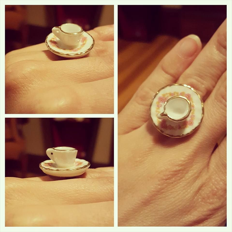 Little Ring I Made With Dollhouse Teacup And Saucer