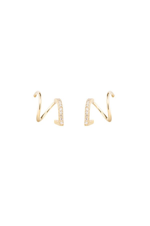 BELA DIAMOND TWIRL EARRING - 18K YELLOW GOLD