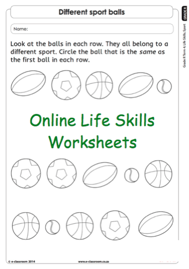 Grade r online life skills worksheet sports balls for more grade r online life skills worksheet sports balls for more worksheets visit ibookread Read Online