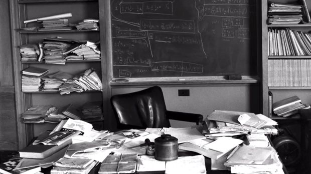 Albert Einstein S Desk Photographed Immediately After His Featuring Unfinished Mcripts Of The