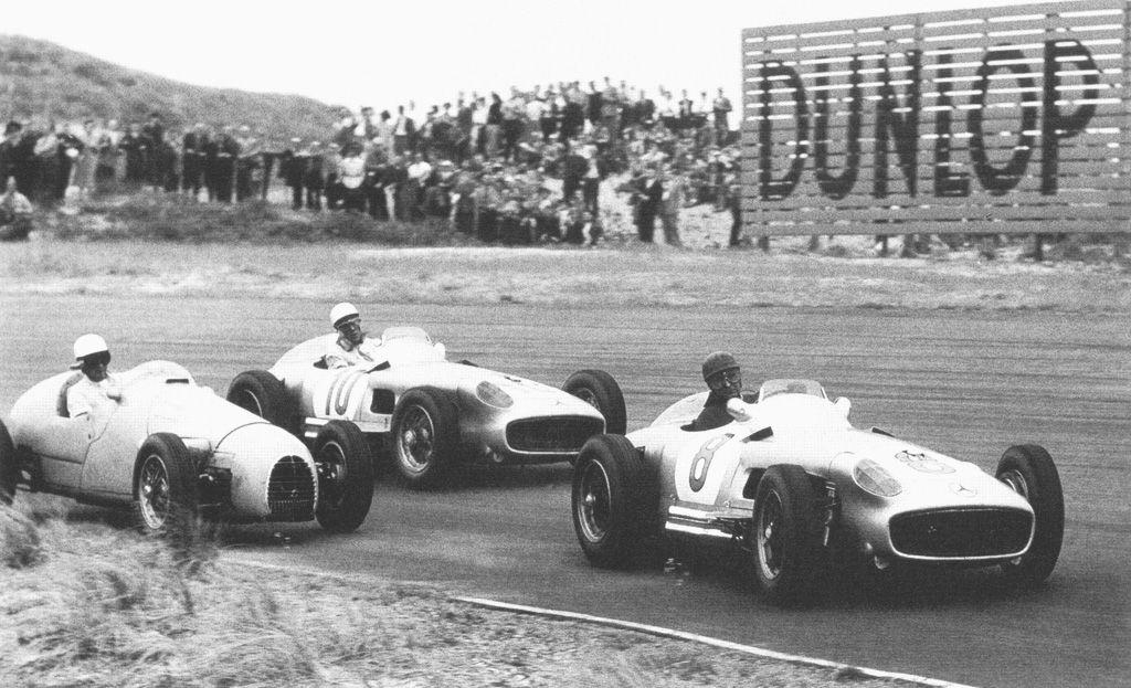 1955 - Juan Manuel Fangio e Stirling Moss, Daimler Benz AG Mercedes W196, Mercedes 2.5 L8, Continental
