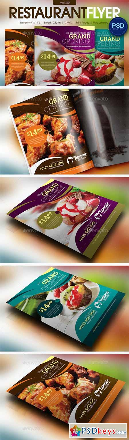 Restaurant Flyer Vol02 11595832 Psd Pinterest Print - food brochure