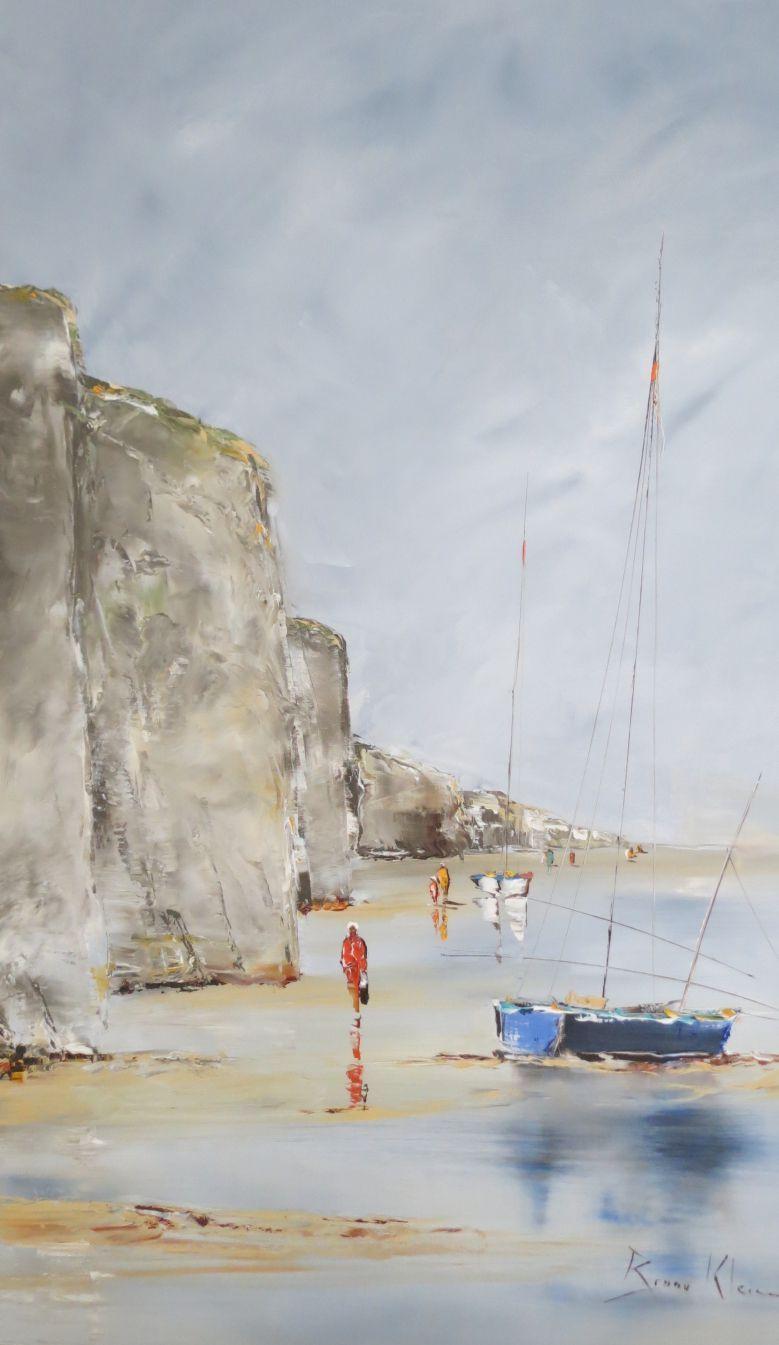 Entre Mer Et Falaise 90x60 Paysage De Mer Peinture Peinture Paysage