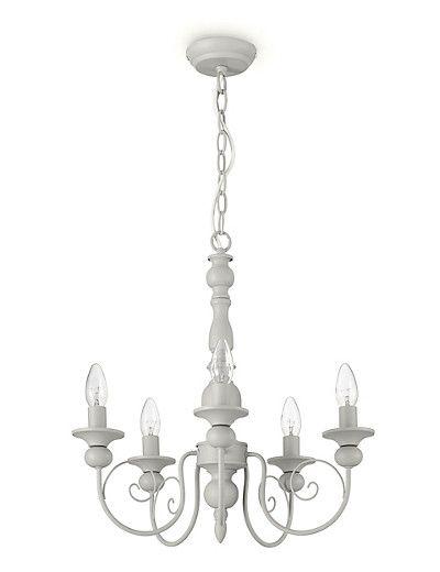 Grey 5 Arm Henley Ceiling Light