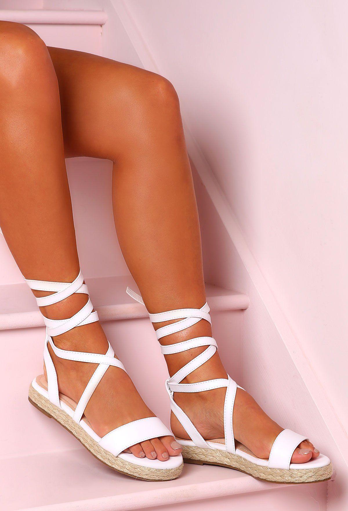 Ankle Tie Flat Sandals