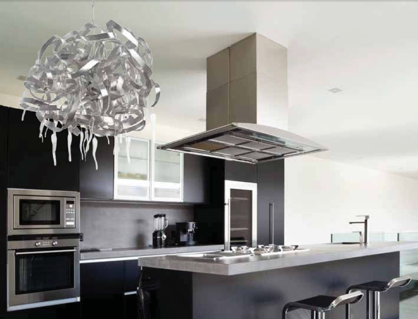 resultado de imagen para iluminacion moderna para cocinas