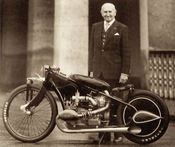 Early racing BMW motorcycle
