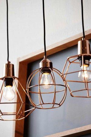 Geometrische Formen passen zum Industrie Look und diese Lampen sind ...