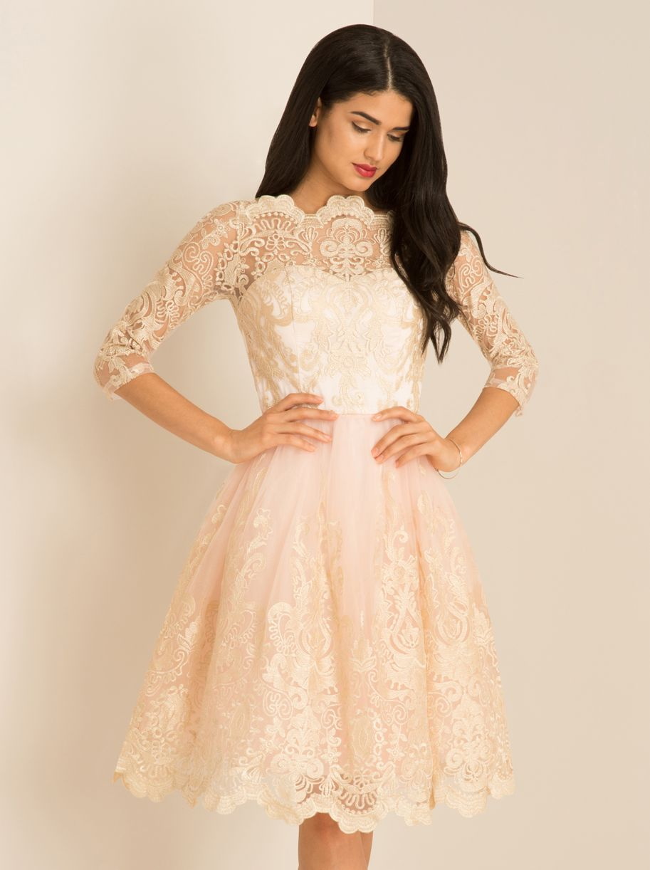 7181cbb9 Chi Chi Clothing SHARNIE sukienka wieczorowa midi rozkloszowana tiul ...