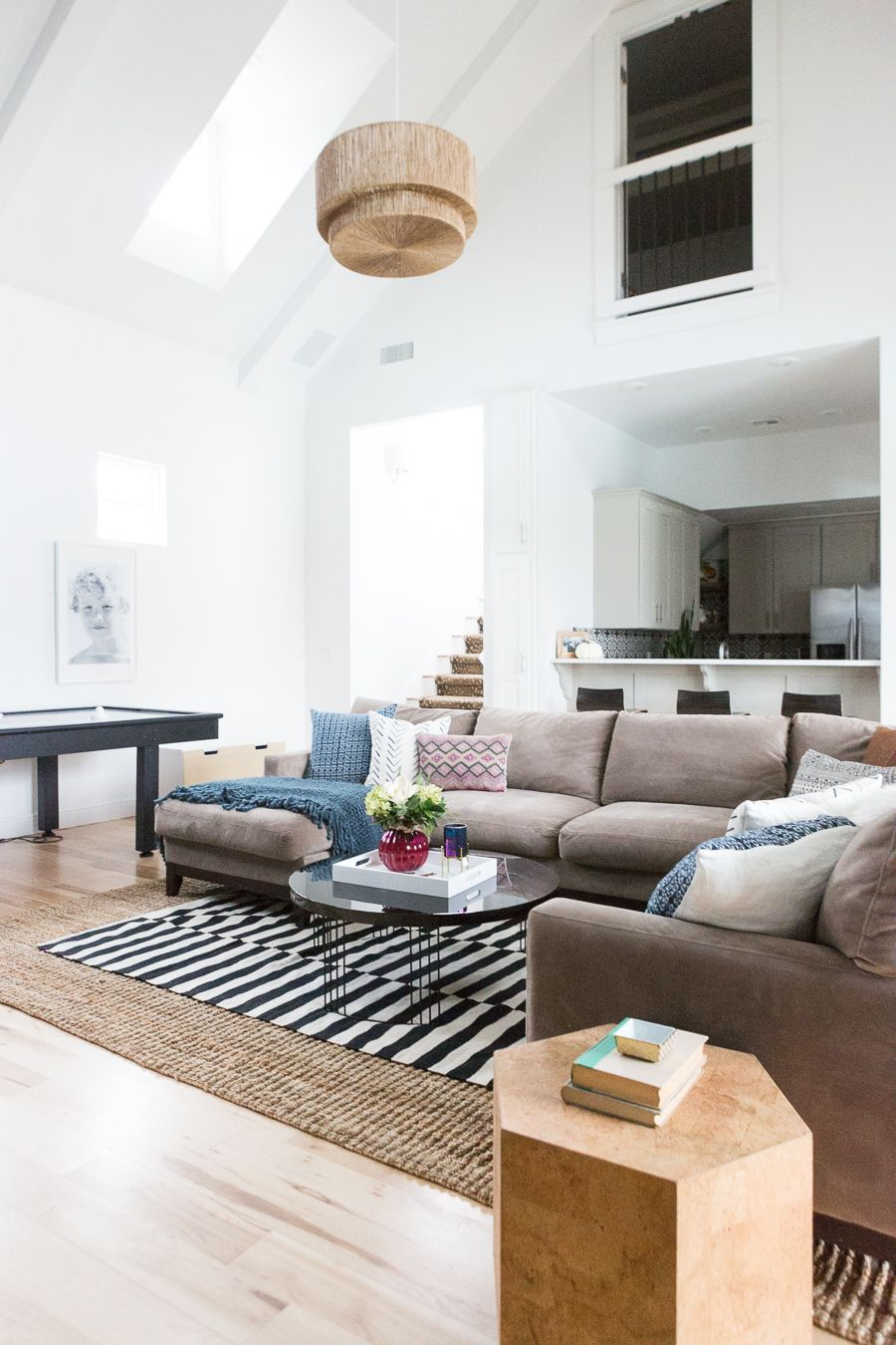 CC and Mike Gameroom Reveal   Juliette balcony, Large sectional and ...