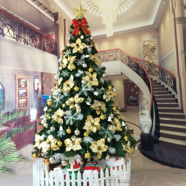 christmas is just around the corner new 15 meters 18 meters christmas tree christmas decorations large christmas tree deluxe - Wholesale Large Christmas Decorations