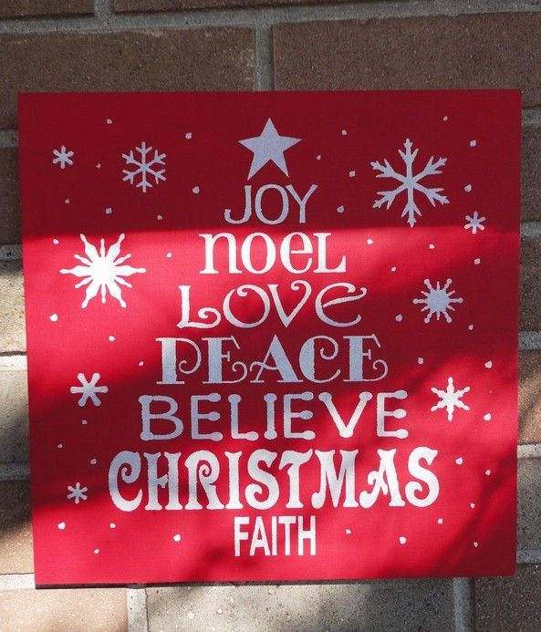 2013 Red Wooden Christmas Tree Signs, Christmas Decor Ideas, Hand ...