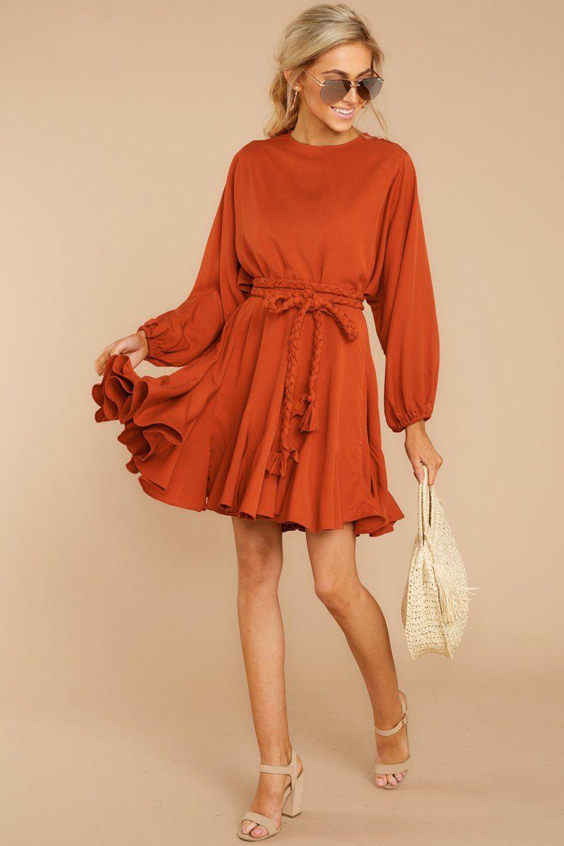Stylish Orange Belted Dress Short Long Sleeve Dress Dress 64 00 Red Dress Boutique Orange Dress Outfits Long Sleeve Dresses Fall Long Sleeve Dress [ 1200 x 800 Pixel ]