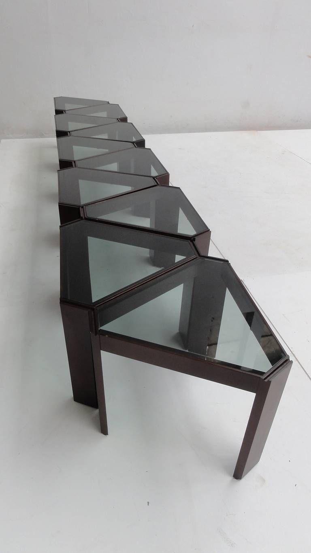 Amazing 1970s geometric modular coffee table or display