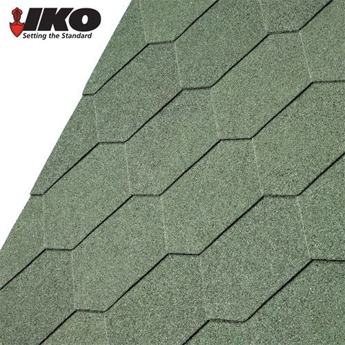 Best Iko Armourshield Hexagonal Roofing Shingles Forest Green 400 x 300