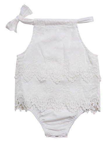 """af72ed7887f2 Kidlove Baby Girls Infant Lace Romper Jumpsuit Cute Tropical Bodysuit """"  Size chart:Please get it on the picture Specifications  1. Sleeveless"""