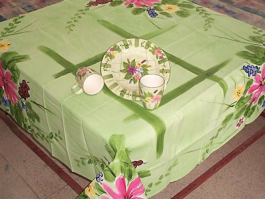 Hand Painted Table Cloth , Find Complete Details About Hand Painted Table  Cloth,Table Cloth From Table Cloth Supplier Or Manufacturer Changzhoushi  Bianyuan ...