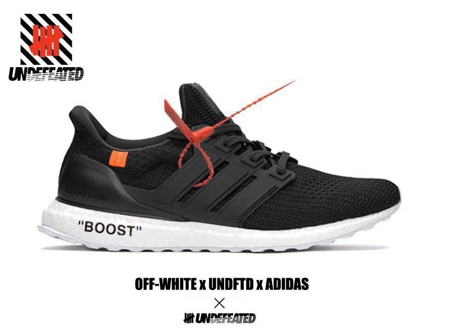 official photos b6e6f 58f6a OFF WHITE x UNDFTD x ADIDAS ULTRA BOOTS Black | Adidas Boost ...
