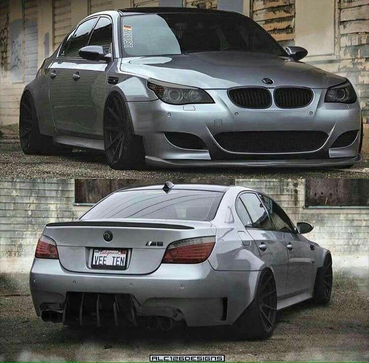 M5 E60: BMW E60 M5 Grey Wide Slammed