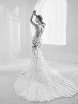 Vestido de novia transparencias en todo el cuerpo