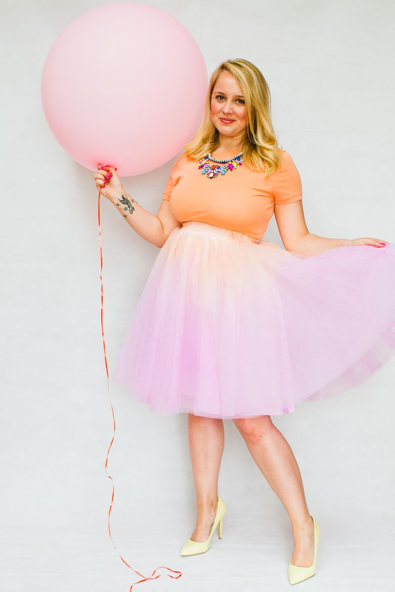 DIY TULLE SKIRT OMBRE TWO TONE PINK ORANGE PURPLE BLUE PASTEL   Ropa