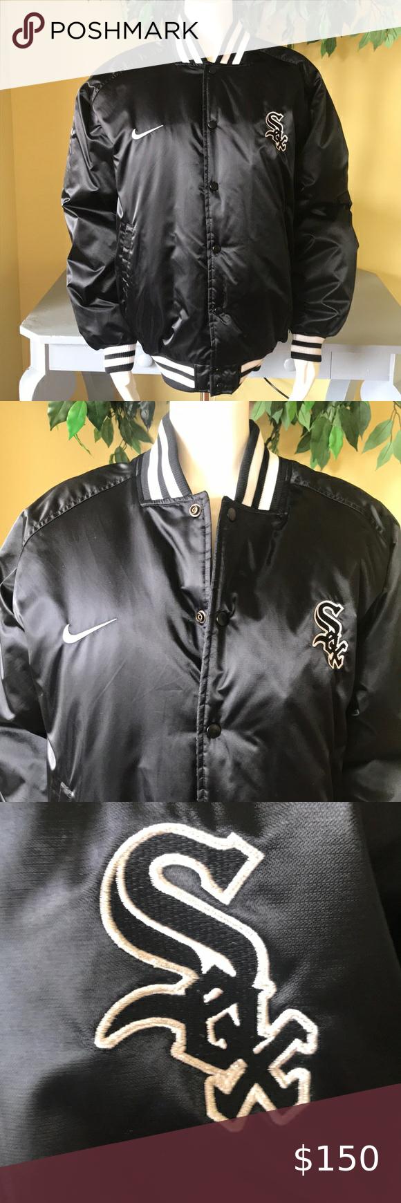 Men S Nike Chicago White Sox Bomber Jacket Size Xl Bomber Jacket Nike Bomber Jacket Jackets [ 1740 x 580 Pixel ]