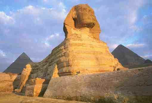 The Great Sphinx is believed to be the most immense stone sculpture in the round ever made by man.
