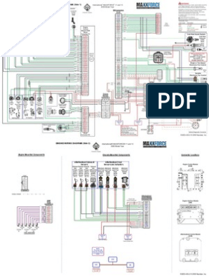 maxxforce 11 y 13 | diagrama de circuito eléctrico, circuito ...  pinterest