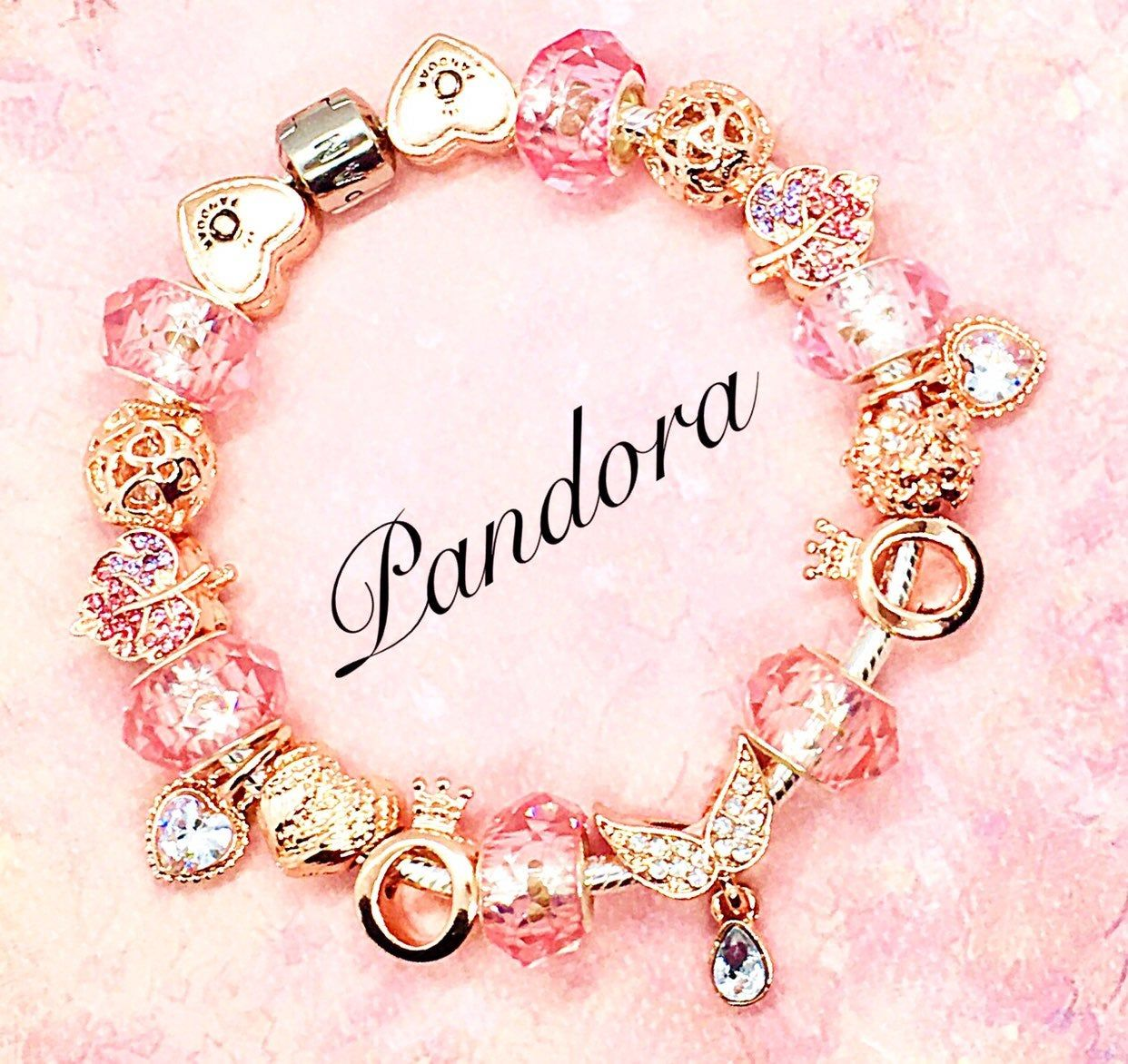Authentic Pandora Sterling Sliver Bracelet Stamped S925 Ale Inside The Clasp Angel Wings Bracelet Pandora Jewelry Charms Pandora Jewelry Box Rose Gold Charms
