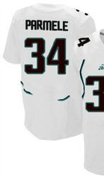 """$78.00--Jalen Parmele White Elite Jersey - Nike Stitched Jacksonville Jaguars #34 Jeresey,Free Shipping! Buy it now:click on the picture, than click on """"visit aliexpress.com"""" In the new page."""
